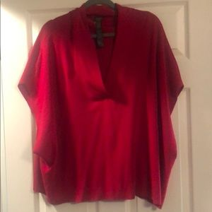 Chico's Travelers Red Top L/XL